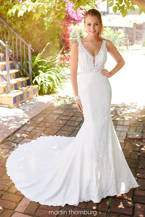 Mae 120248 Martin Thornburg Fit & Flare Wedding Dress- To Order