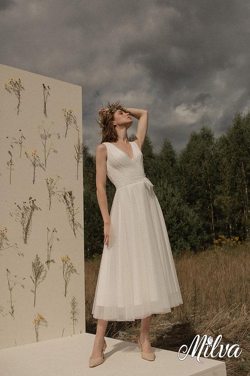 Kate Milva Short A-Line Wedding Dress- To Order