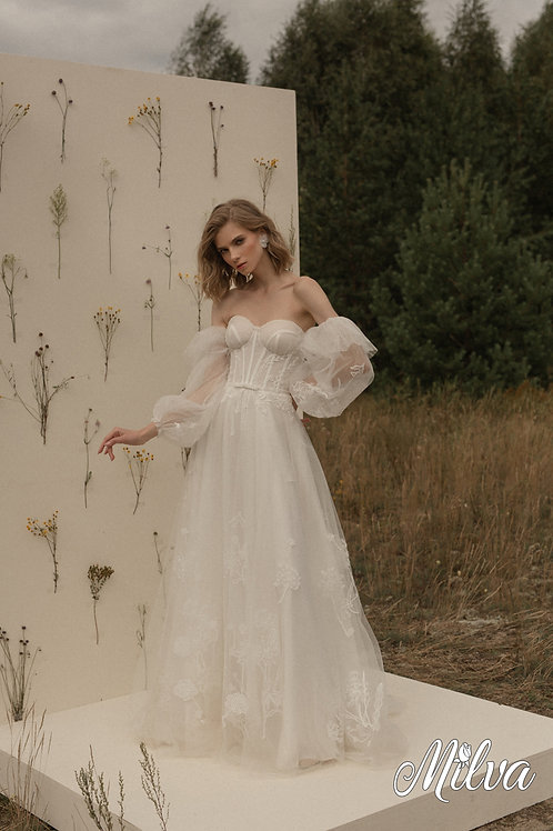Phillippa Milva A-Line Wedding Dress- To Order