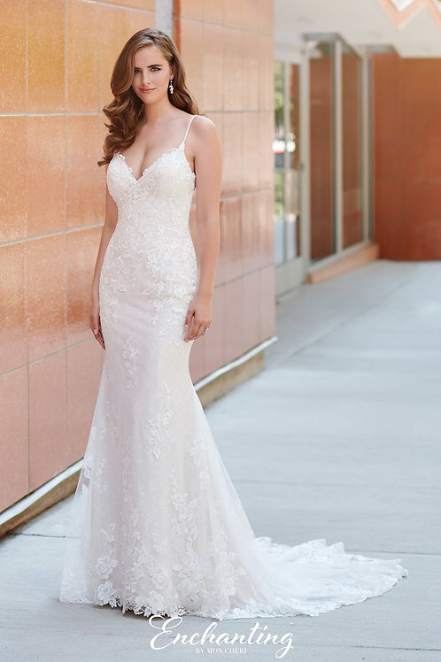 120166 Enchanting Fit & Flare Wedding Dress- To Order