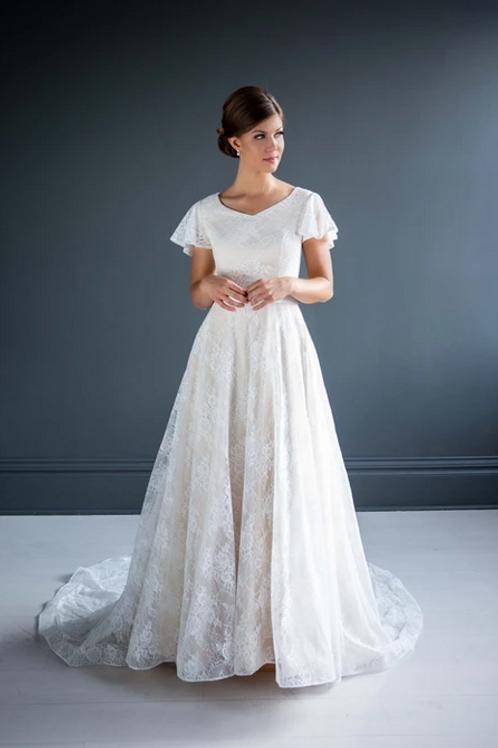April MC7209 MBC by Barbie A-Line Wedding Dress- To Order