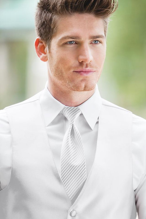 Striped Expressions White Windsor Tie