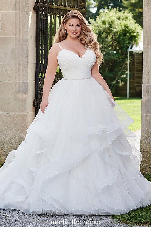 Monroe 120236 Martin Thornburg Ballgown Wedding Dress- In Stock