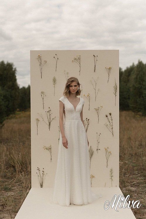 Galaxy Milva Sheath Wedding Dress- To Order