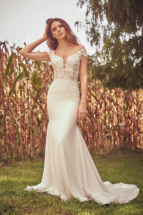66072 Lillian West Fit & Flare Wedding Dress- To Order