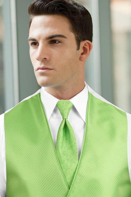Vine Synergy Lime Green Windsor Tie