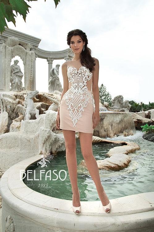 Micka Belfaso Short Fitted Wedding Dress- To Order