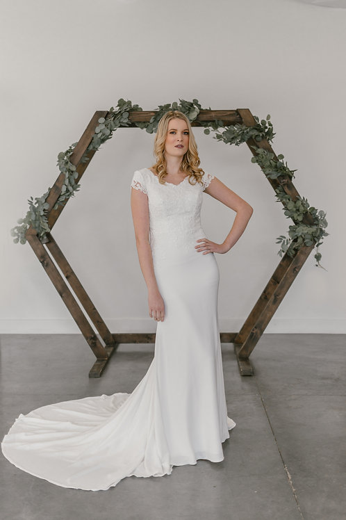IsabelM Eddy K Sheath Wedding Dress- In Stock