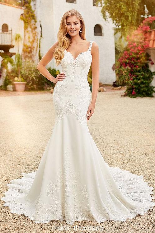 Eliza 120238 Martin Thornburg Fit & Flare Wedding Dress- In Stock