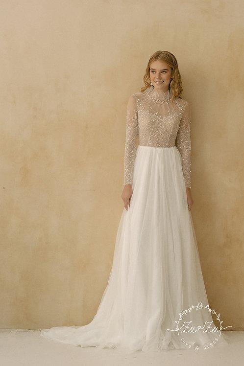 Brie Zuzu Sheath Wedding Dress- To Order
