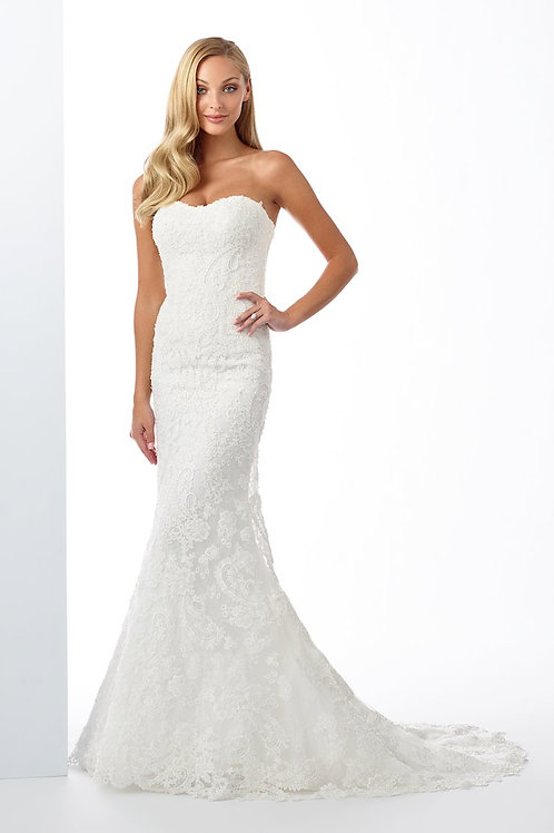 119123 Enchanting Fit & Flare Wedding Dress- To Order
