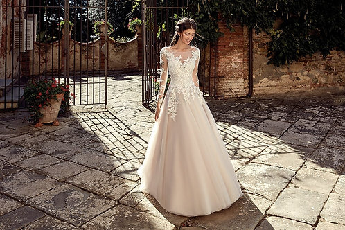 EK1228 EddyK A-line Wedding Dress- In Stock