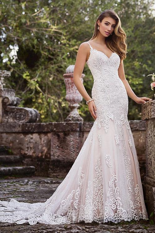 Francesca 218216 Martin Thornburg Trumpet Wedding Dress- In Stock