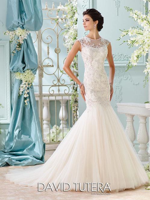 Ica 116222 Martin Thornburg Trumpet Wedding Dress- In Stock