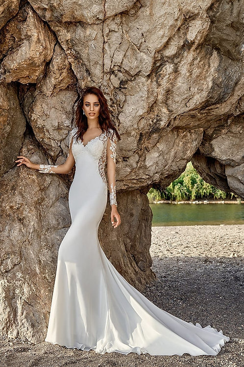 Isandra EddyK Sheath Wedding Dress- In Stock