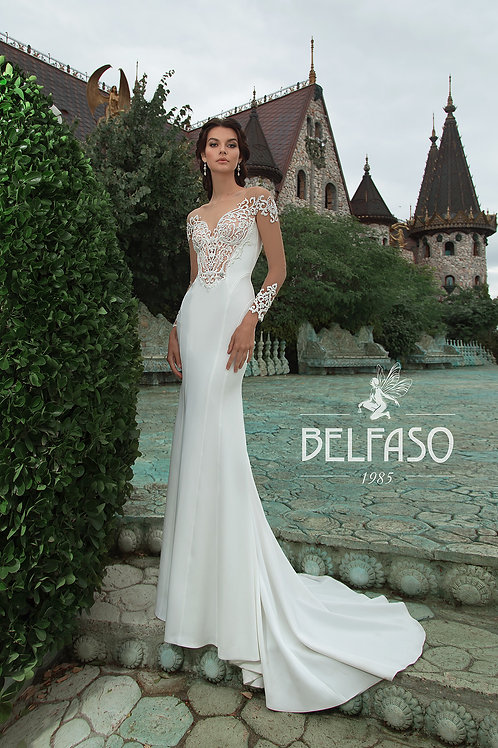 Ciera Belfaso Sheath Wedding Dress- To Order