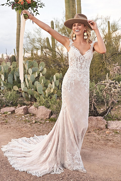 66012 Lillian West Fit & Flare Wedding Dress- To Order