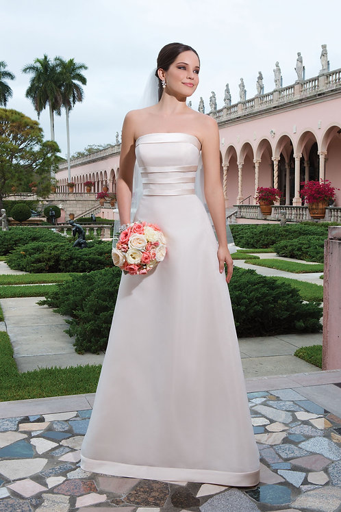 6062 Justin Alexander Sheath Wedding Dress- IN STOCK