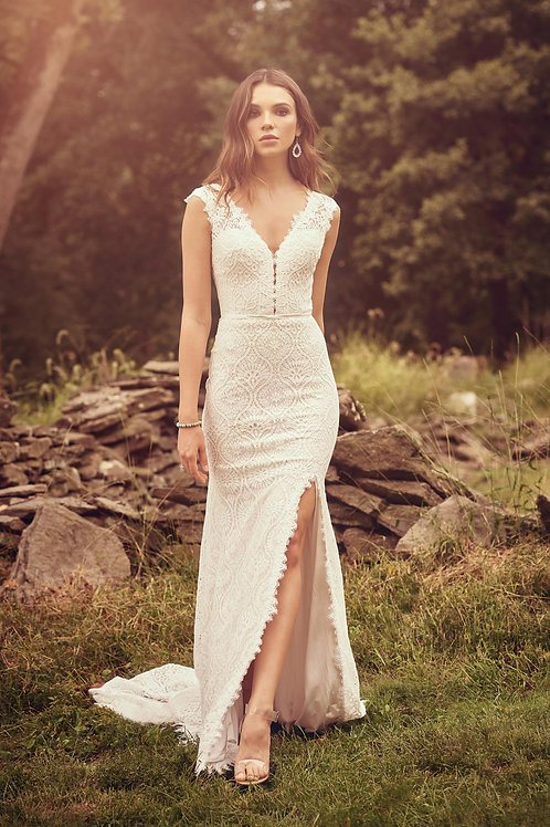 66083 Lillian West Fit & Flare Wedding Dress- To Order