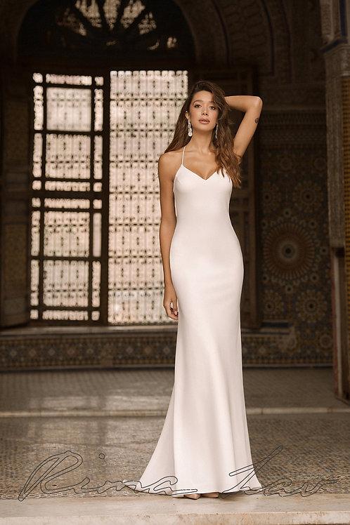 Meg Rima Lav Sheath Wedding Dress- In Stock
