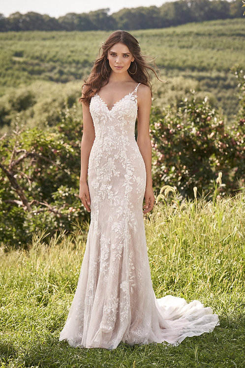 66131 Lillian West Fit & Flare Wedding Dress- In Stock