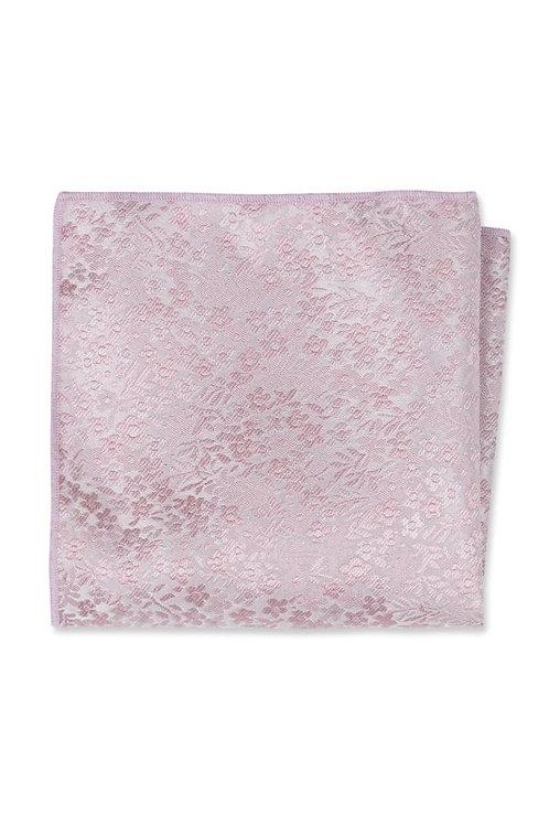Dusty Rose Floral Pocket Square