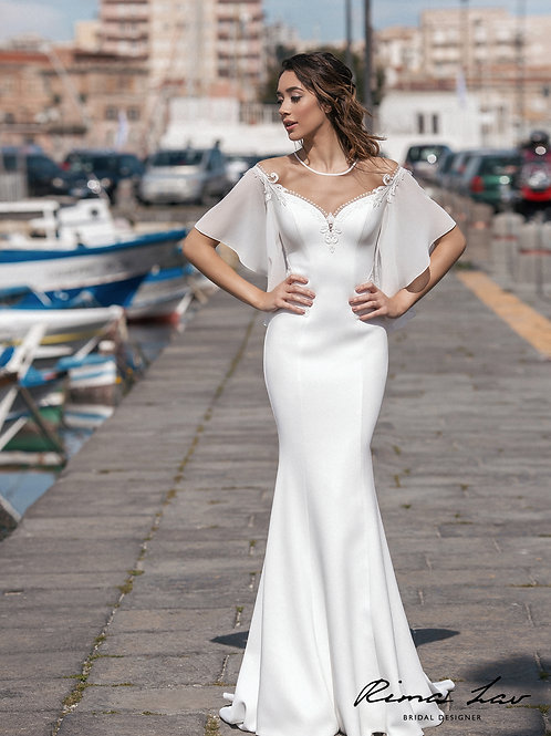 Diane Rima Lav Fit & Flare Wedding Dress- To Order