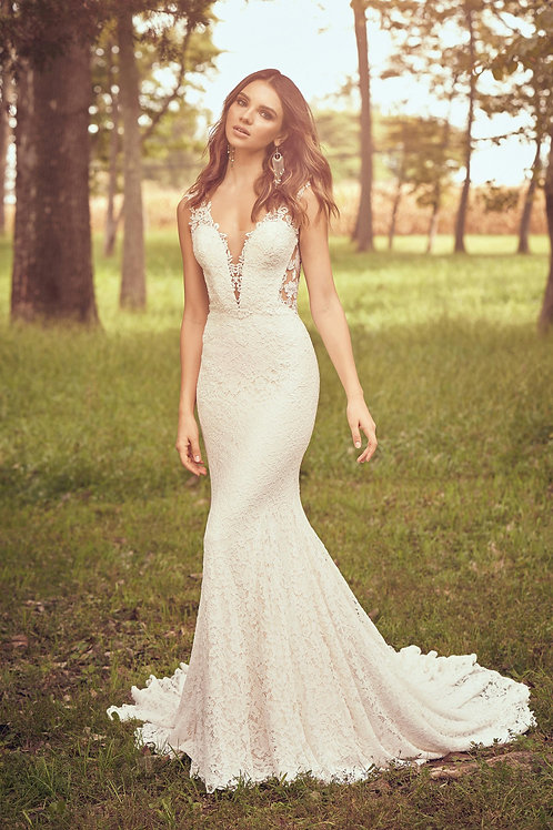66061 Lillian West Fit & Flare Wedding Dress- To Order