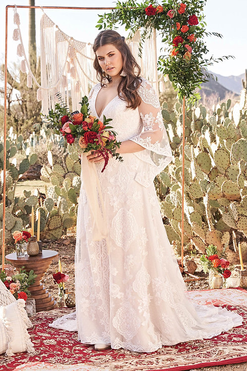 66064 Lillian West A-line Wedding Dress- In Stock