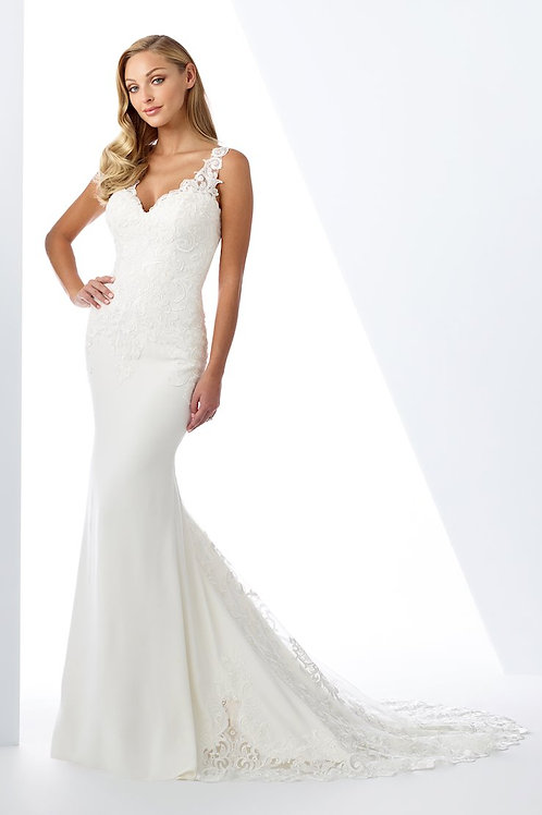 119122 Enchanting Trumpet Wedding Dress- To Order
