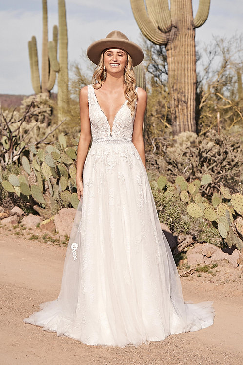 66170 Lillian West A-Line Wedding Dress- To Order
