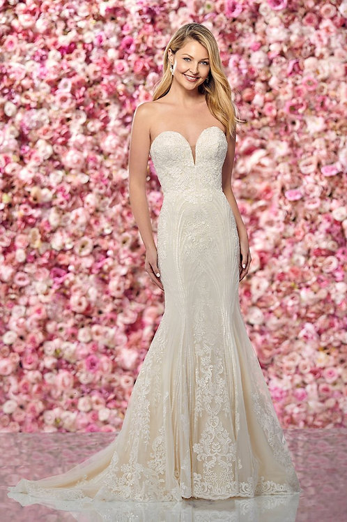 219132 Enchanting Fit & Flare Wedding Dress- In Stock