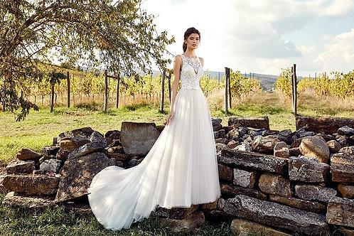 EK1213 EddyK Sheath Wedding Dress- In Stock