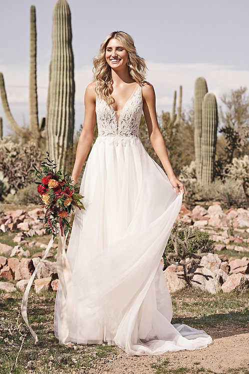 66173 Lillian West A-Line Wedding Dress- To Order