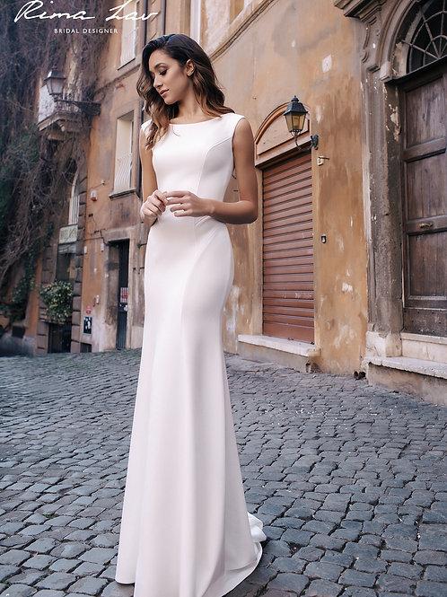 Carey Rima Lav Sheath Wedding Dress- To Order