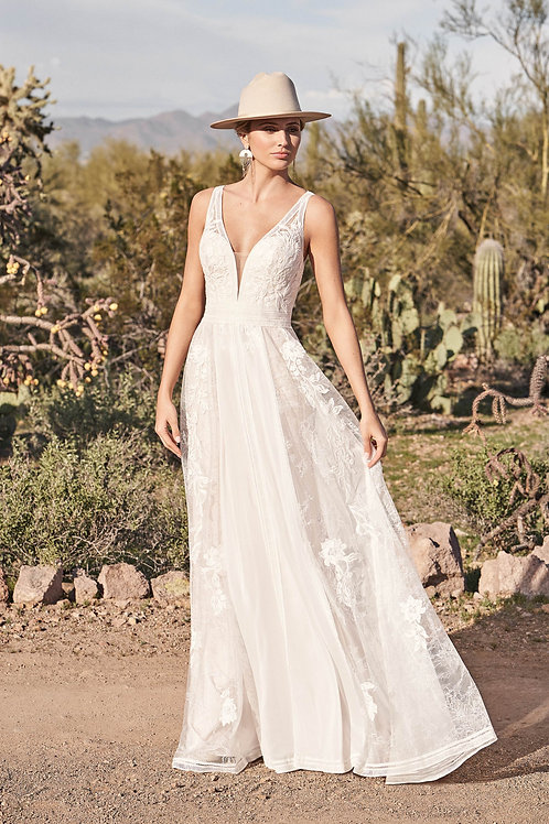 66166 Lillian West A-Line Wedding Dress- To Order