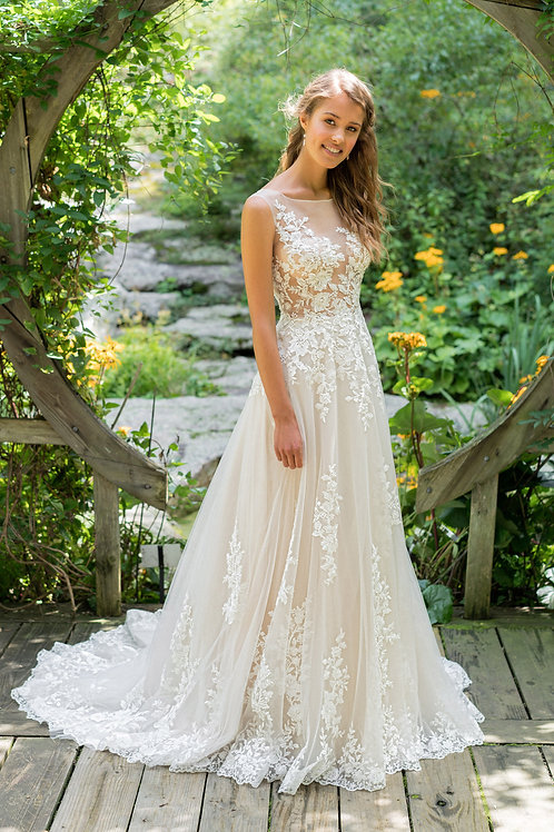 66024 Lillian West A-Line Wedding Dress- To Order