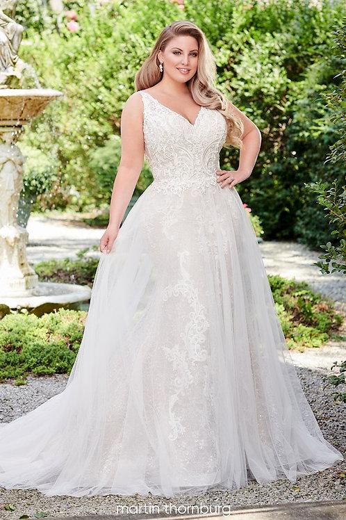 Amelia 120247W Martin Thornburg Sheath Wedding Dress- To Order