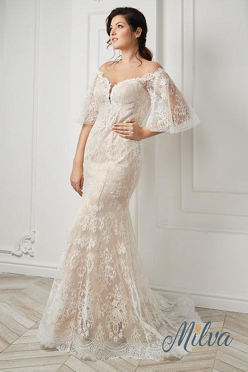 Eline Milva Fit & Flare Wedding Dress- To Order