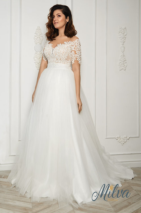 Astrea Milva Sheath Wedding Dress- To Order