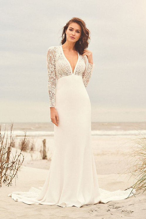 66096 Lillian West Fit & Flare Wedding Dress- To Order