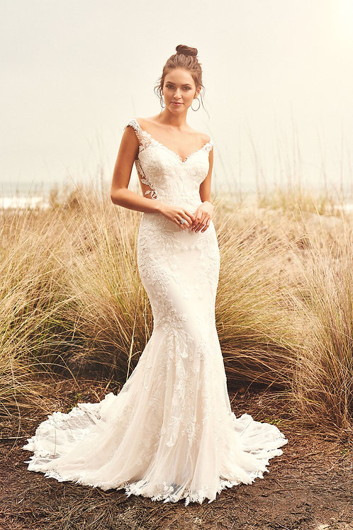 66104 Lillian West Fit & Flare Wedding Dress- To Order