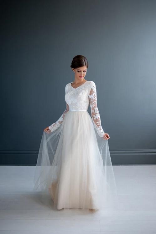 Tina MC7205 MBC by Barbie Sheath Wedding Dress- To Order