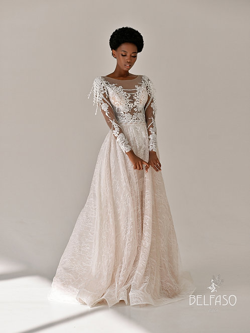 Gloris Belfaso A-Line Wedding Dress- To Order