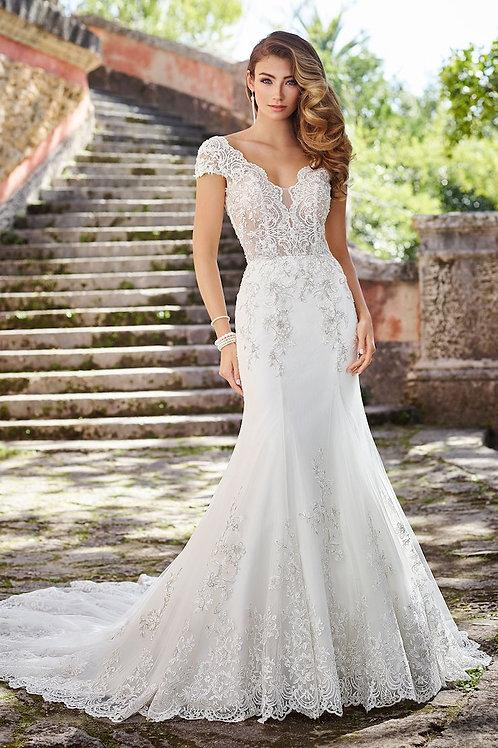 Veronica 218218 Martin Thornburg Trumpet Wedding Dress- In Stock