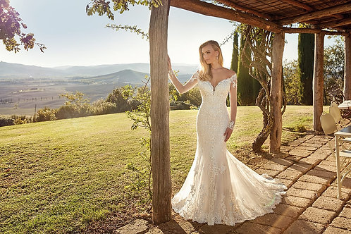 Gia EK1344 Eddy K Fit & Flare Wedding Dress- To Order