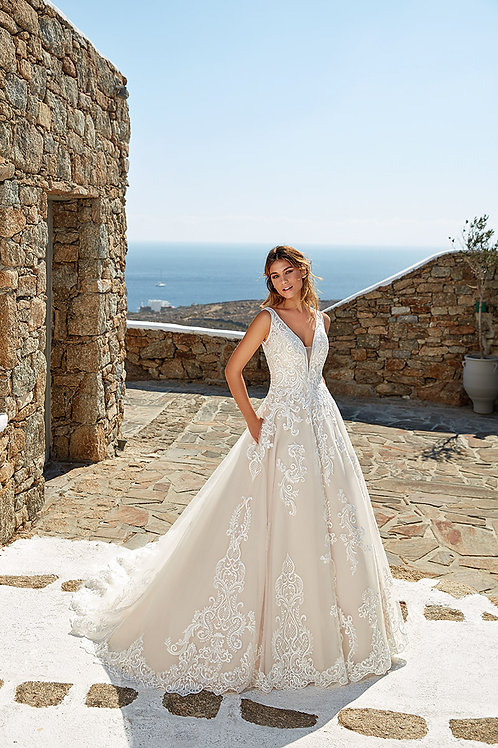 Iris EddyK A-line Wedding Dress- In Stock