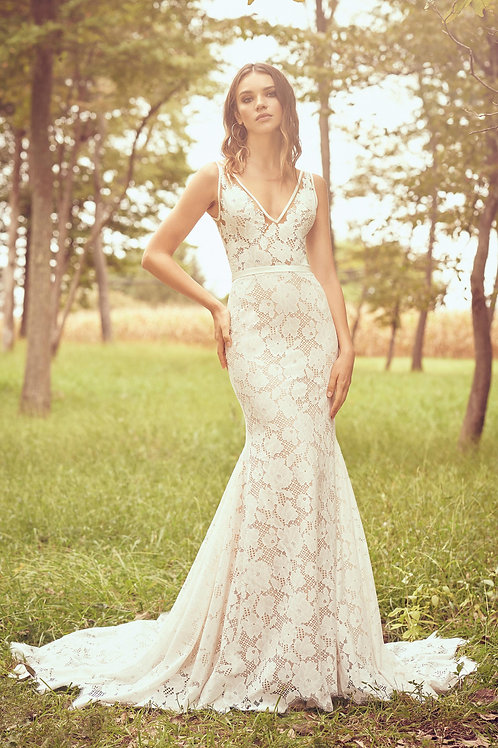 66073 Lillian West Fit & Flare Wedding Dress- To Order