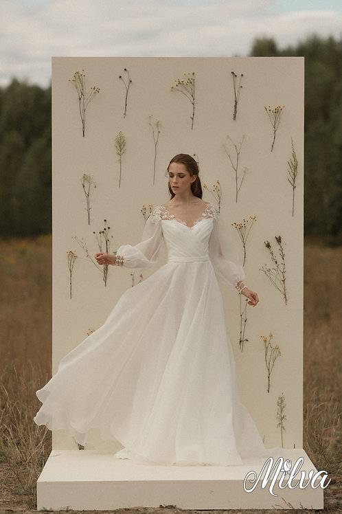 Gracy Milva A-Line Wedding Dress- To Order