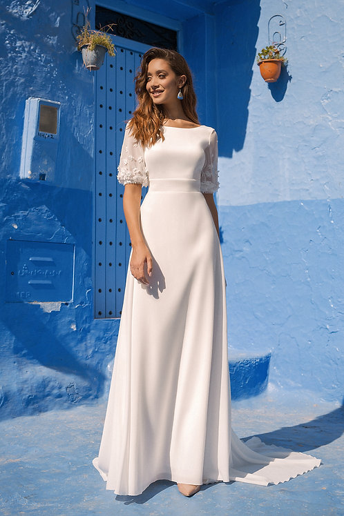 Bethany Rima Lav Sheath Wedding Dress- To Order